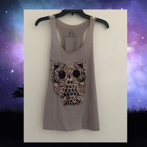 Bear Dance Owl Shirt Size S